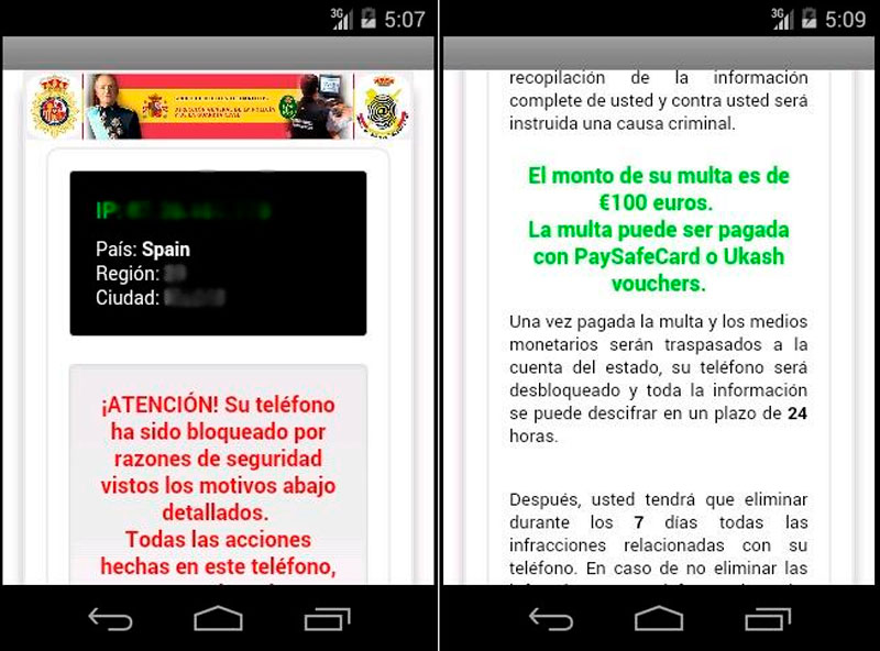 eliminar virus policia android