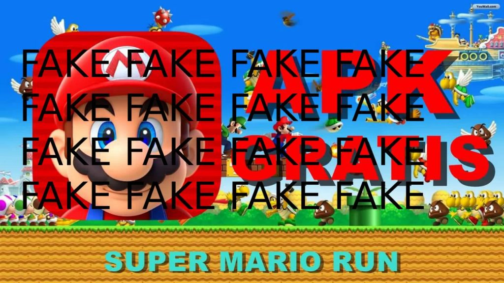 super mario run apk fake