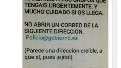 Virus de la policía ataca por email usando el correo electrónico policia@gobierno.es